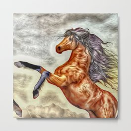 Painted Horse 3 Metal Print