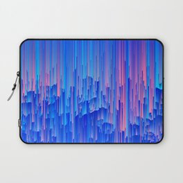 Glitchy Rain - Abstract Pixel Art Laptop Sleeve