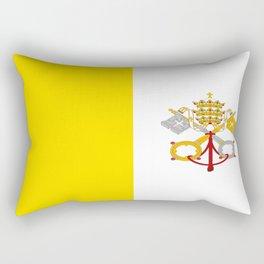 Flag of vatican city Rectangular Pillow