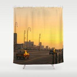 Sunset in La Habana Shower Curtain