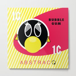 Bubble Gum Wrapper Tina Metal Print