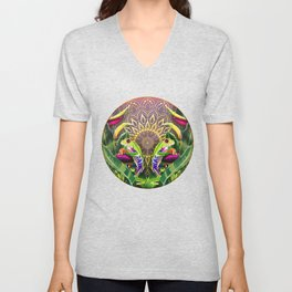 Red Eyed Tree Frog Unisex V-Neck