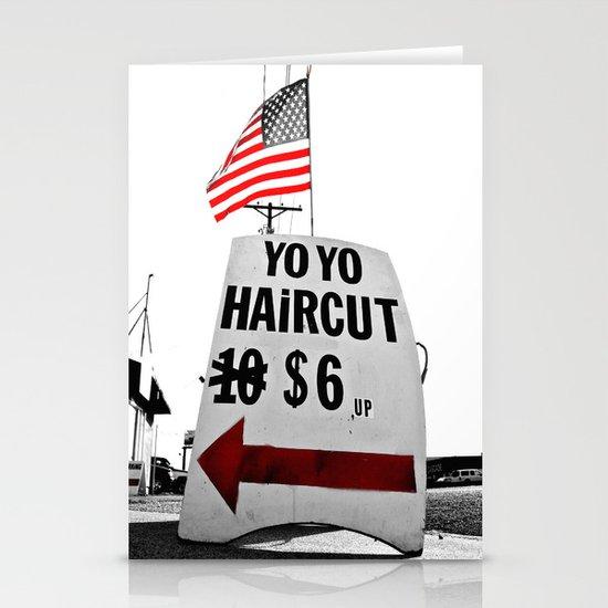 Yo Yo Hair Cut Stationery Cards
