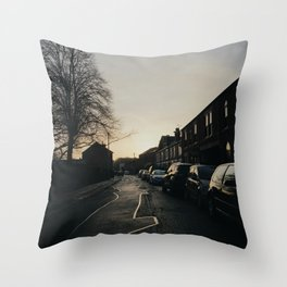 morning commute Throw Pillow