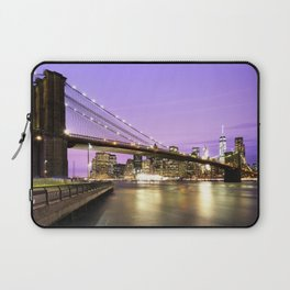 Brooklyn Bridge at night. New York Laptop Sleeve