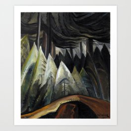 Emily Carr - Forest Light  - Canada, Canadian Oil Painting - Group of Seven Art Print