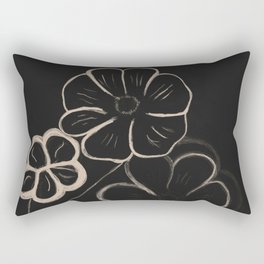 Light Sepia Flowers #1 #drawing #decor #art #society6 Rectangular Pillow