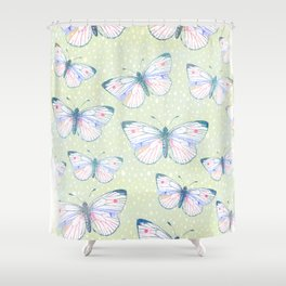 vintage butterfly pattern Shower Curtain