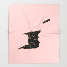 Trinidad and Tobago map Throw Blanket