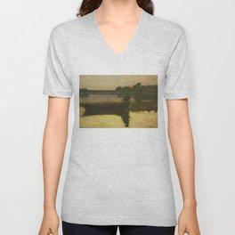 Sunset - Winslow Homer Unisex V-Neck