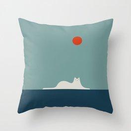 Cat Landscape 95 Throw Pillow