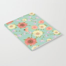 Prairie Floral Mint Notebook
