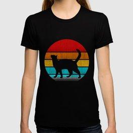 retro vintage cat T-shirt