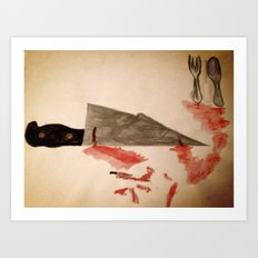 The Fork ran away with the Spoon Art Print