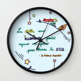 Il piccolo principe - Stelle Wall Clock