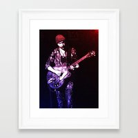 u2 Framed Art Prints featuring U2 / The Edge by JR van Kampen