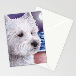 Dog 81 White Westie Dog Stationery Cards