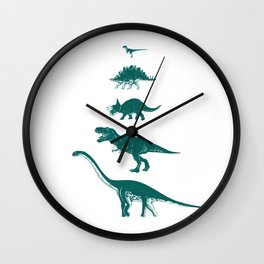 All the Dinosaurs T-Rex Illustration Wall Clock
