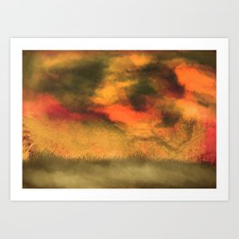 Stormy print Art Print