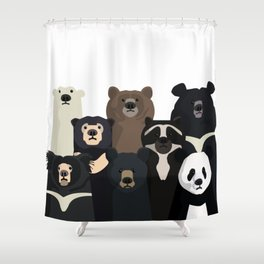 Bear family portrait Shower Curtain