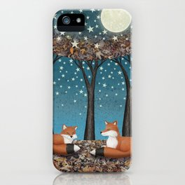 starlit foxes iPhone Case