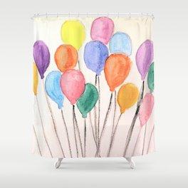 Balloon Doodle Shower Curtain