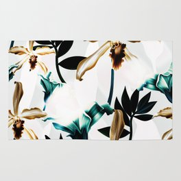 Abstract tropical nature painting I Rug
