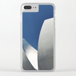 Silver, White & Blue in Singapore's Modern Architectural Shapes Clear iPhone Case