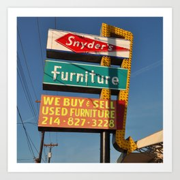 Snyder's Furniture (Square) Art Print