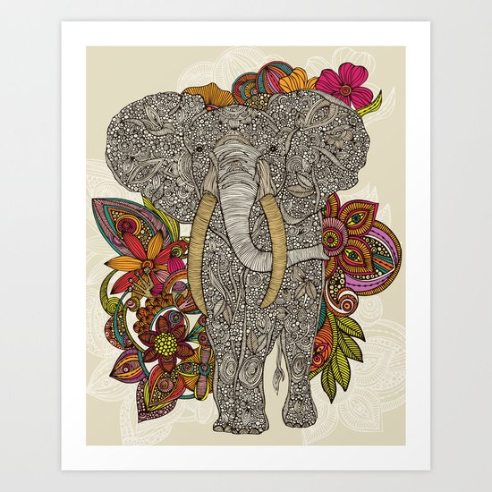 Walking in paradise Art Print