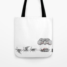 Steampunk Santa or Ferrous Father Christmas Tote Bag