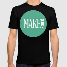 MAKE Mens Fitted Tee MEDIUM Black