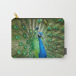 Beautiful Male Peacock Carry-All Pouch
