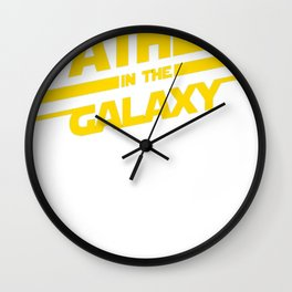 The Best Father In The Galaxy Wall Clock