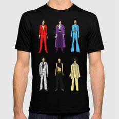 Outfits of Purple Fashion (White) Mens Fitted Tee Black MEDIUM