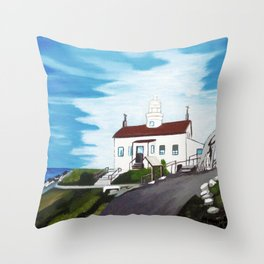 Battery point Lighthouse ( Crescent City, CA ) Throw Pillow