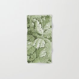 Celery Green Acanthus Plant Hand & Bath Towel