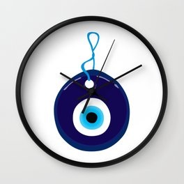 Blue Evil Eye Bead Wall Clock