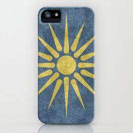 Ancient Macedonian flag iPhone Case