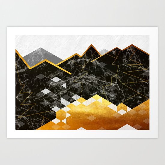 Golden Lake Art Print
