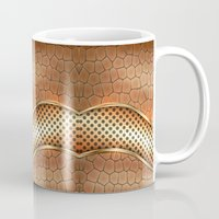 anaconda Mugs featuring Blingin Anaconda by Robin Curtiss