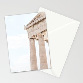 Parthenon on the Acropolis in Athens   Ancient architecture in pastel colors   Travel photography wall art print Stationery Cards