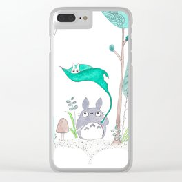 My Neighbor in the Forest Clear iPhone Case