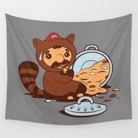 luigi Wall Tapestries featuring The Tanooki truth by Hoborobo