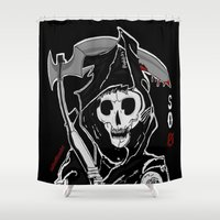 sons of anarchy Shower Curtains featuring Sons Of Anarchy (Reaper) by ItalianRicanArt