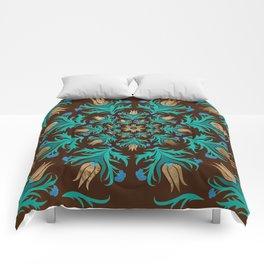 Turkish tulip - Ottoman tile 17 Comforters