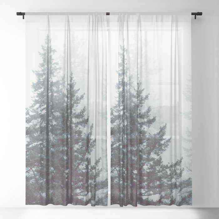 Deep in the Wild - Nature Photography Sheer Curtain