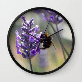 Summer Lilac Wall Clock