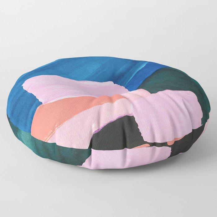 Mesozoic blocks Floor Pillow