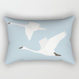 Elegant Swan Minimalist Rectangular Pillow